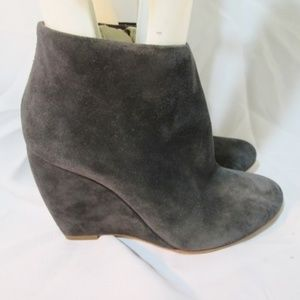 RUPERT SANDERSON ITALY Bootie Ankle Boot GRAY SUED